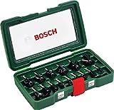 Bosch 15tlg. Fräser Set (Holz, Zubehört für...